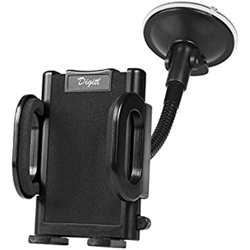 Premium Windshield Car Mount Holder for Samsung Galaxy S8 S7 S6, Note 8 5, LG G6 V20 V10 w/ One-Button Quick Release Car Cradle (use with or Sales