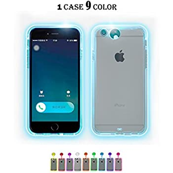 winhoo iphone 6 plus 6s plus case9 color in 1 led flash case can change 9 different colors incoming call led flash light alerts case cover skin for apple - Colors For Iphone 6 Plus