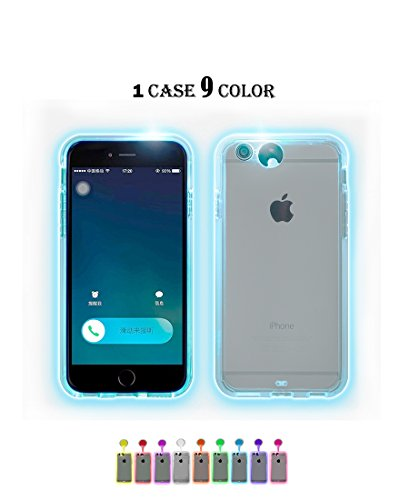 Winhoo iPhone 7/8 plus Case,9 color in 1 LED Flash Case ,Can Change 9 Different Colors Incoming Call LED Flash Light Alerts Clear Back Case For Apple iPhone (iPhone 7/8 plus 5.5 inch)