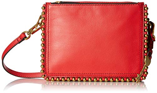 Fossil Red Leather - Fossil Campbell Crossbody Poppy Red, One Size