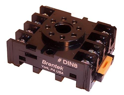 Octal Relay Socket - Brentek DIN 8 - DIN Rail Mount and Panel Mount