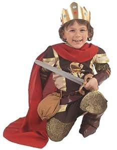 Caritan - Disfraz de Rey Ricardo Corazón de León oro para niño (de 5/7 años)