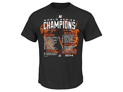 San Francisco Giants 2014 World Series Champions Mash & Smash Black Shirt Small - Derek Jeter Majestic Player