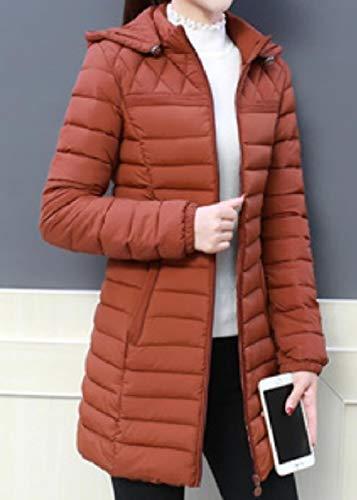 1 Donna lungo Inverno Cappuccio Cappotto Sovradimensionato Medio Da Giù Con Moda Vitryst Esterno xwR7qF0