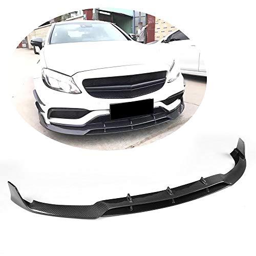 MCARCAR KIT Front Bumper Lip fits Mercedes Benz C Class W205 C205 A205 C63 AMG 2Door 2015-2018 Add-on Factory Outlet Carbon Fiber CF Chin Spoiler Splitter Protector