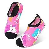 JIASUQI Boys and Girls Outdoor Slip on Beach Water Shoes for Swim Pool