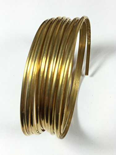 8 gauge half Round Red Brass wire 10 ft, 3.25 mm x 1.63 mm size (10 Gauge Half Round Wire)