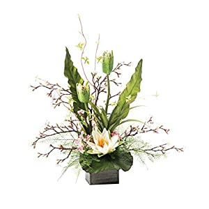 Petals Lotus Flower & Cherry Blossom Silk Flower Arrangement 17