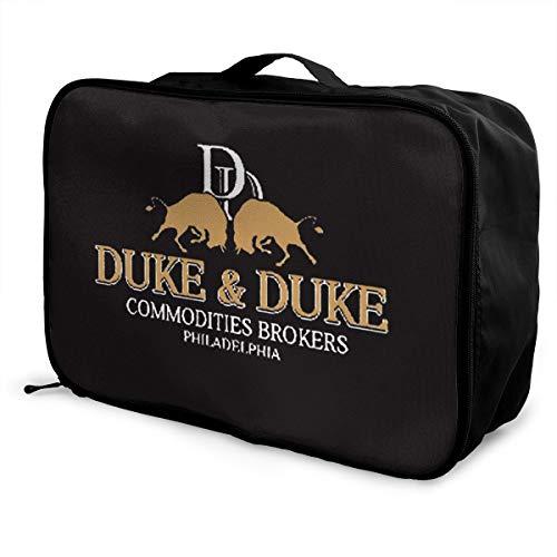 Ownspace Trading Places Duke And Duke (1) Travel Duffel Bag Novelty Foldable Luggage Black