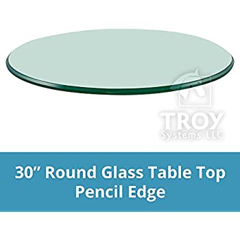 Charmant 30u0027u0027 Round 3/8 Inch Thick Pencil Polished Tempered Glass Table Top