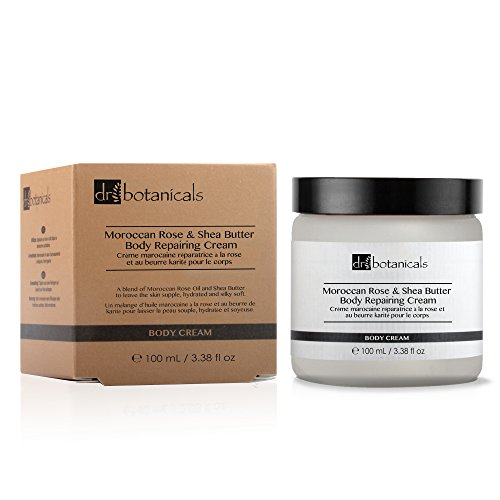 Ageing Vitamin Anti - Dr Botanicals Vegan Moroccan Rose & Shea Butter Body Cream with Shea Butter and Apricot Kernel Oil - Anti Ageing Natural Vitamins Treatment to remove Wrinkles and Fine Lines - Made in UK - 100ml
