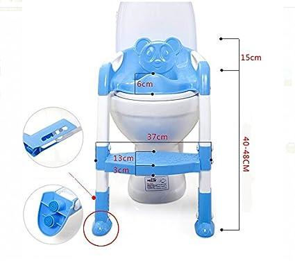 40cm Polypropyl/ène Bleu Kentop Si/ège de Toilettes Pliable pour Enfant avec escalier