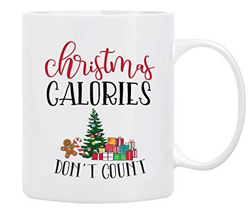Christmas Coffee Mug, Holiday Coffee Mug '' Christmas Calories Don't Count'', Funny Christmas Mugs from Daughter, Wife and Son - Christmas Movie Mug, Mug in DecorativeChristmas Gift Box,11 Oz