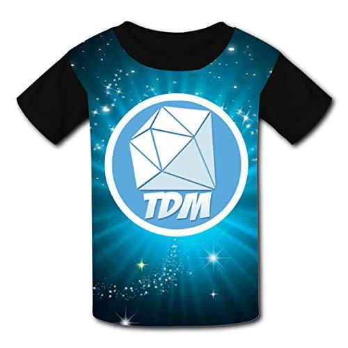 Unisex T-Shirt Kids Sport Tadmdan Short Sleeve Funny Tee Shirt M