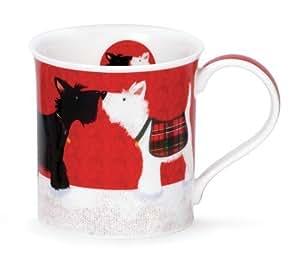 Cute Dunoon Waggy Tails Fine Bone China Scottie Dog Mug Bute Shape