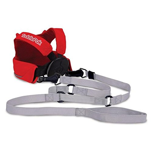 Trunki ToddlePak: Toddler Walking Leash, Kids Safety Harness: Felix Fox (Red)