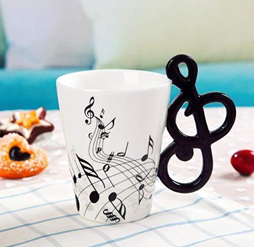 Creative Music Violin Style Guitar Ceramic Mug Coffee Tea Milk Stave Cups With Handle Coffee Mug Novelty Gifts - Style ()