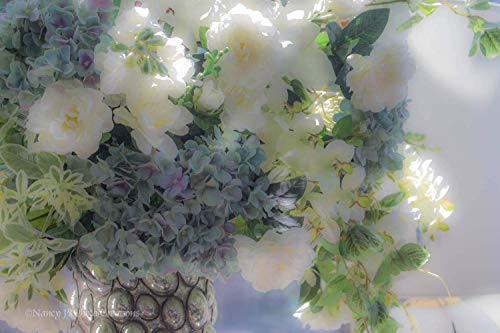 Dreamy Hydrangea (White Flower Photography Unframed Opulent Bouquet Picture Elegant Floral Wall Art Lavender Pale Blue Leaf Green Home Decor Stylish Photographic Print 5x7 8x10 8x12 11x14 12x18 16x20 16x24 20x30 24x36)