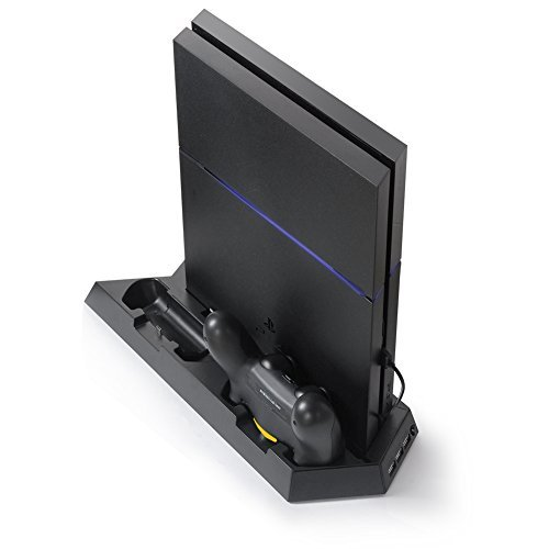 Pojazia PS4 Cooler PS4 Vertical Stand Cooling Fan PlayStation 4 Controller Dual Charging Station with Dual Charger Ports with USB Dock Best Cooling Pad System (Laptop With The Best Cooling System)