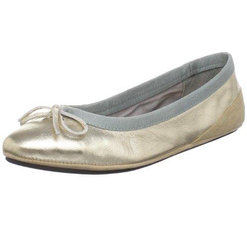 Amiana Kvinnor 15-a5001 Balett Platt Guld Metallic