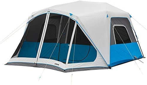Core Lighted Instant Cabin Tent (6/9/10/12 Person)
