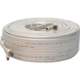 Q-See QSVRG200 UL Rated E475392 Shielded Video & Power 200FT BNC Male Cable with 2-Female Connectors