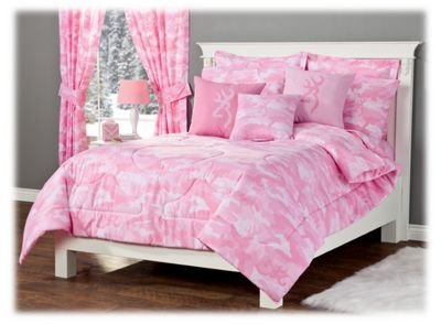 Browning Buckmark Camo - Pink - Comforter and Sham Set - Full