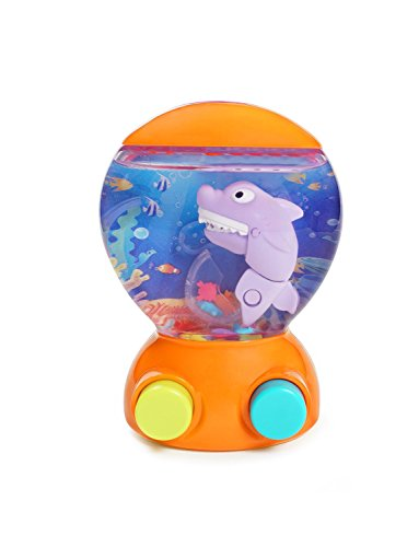 KONIG KIDS Shark Handheld Mini Water Arcade Game Toy Water Ocean World Learning Toy Small Toddler Game Toy Kids Babies Girls Boys 3+ Years (Orange) by KONIG KIDS