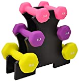 BalanceFrom BF-D235 Dumbbell Set with Stand, 20 lb