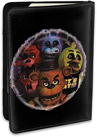 Giant Five Nights At Freddy's Balloon 5 夜でフレディ パスポートケース パスポートカバー メンズ レディース パスポートバッグ ポーチ 収納カバー PUレザー 多機能収納ポケット 収納抜群 携帯便利 海外旅行 出張 クレジットカード 大容量