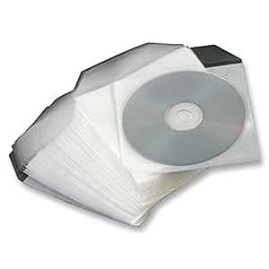 Mangas Seguridad Pvc CD/DVD x50de audio y vídeo de almacenamiento, mangas, seguridad, PVC, CD/DVD, X50