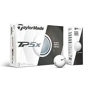 TaylorMade TP5X Golf Balls, White (One Dozen)
