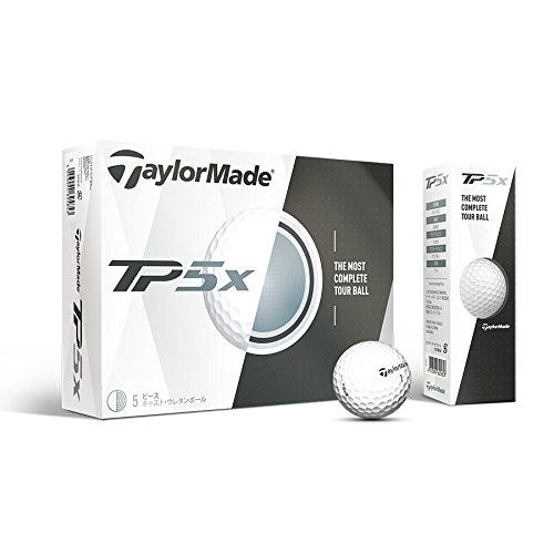 TaylorMade TP5X Golf Balls, White (One Dozen) (Construction Golf Ball)