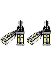 Creely 4 szt. jasne białe Canbus żarówka LED do cofania tylnych świateł 912 921 T15 W16W