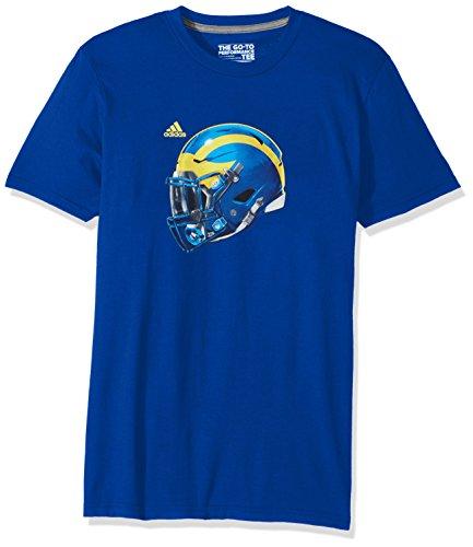 Royal Blue Helmet (NCAA Delaware Fightin' Blue Hens Adult Men 2017 Helmet Ultimate S/Tee, Medium, Collegiate Royal)