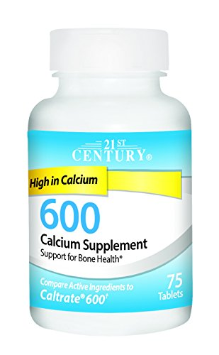 21st Century Calcium Supplement, 600 mg, 75 Count by 21st Century (Image #1)
