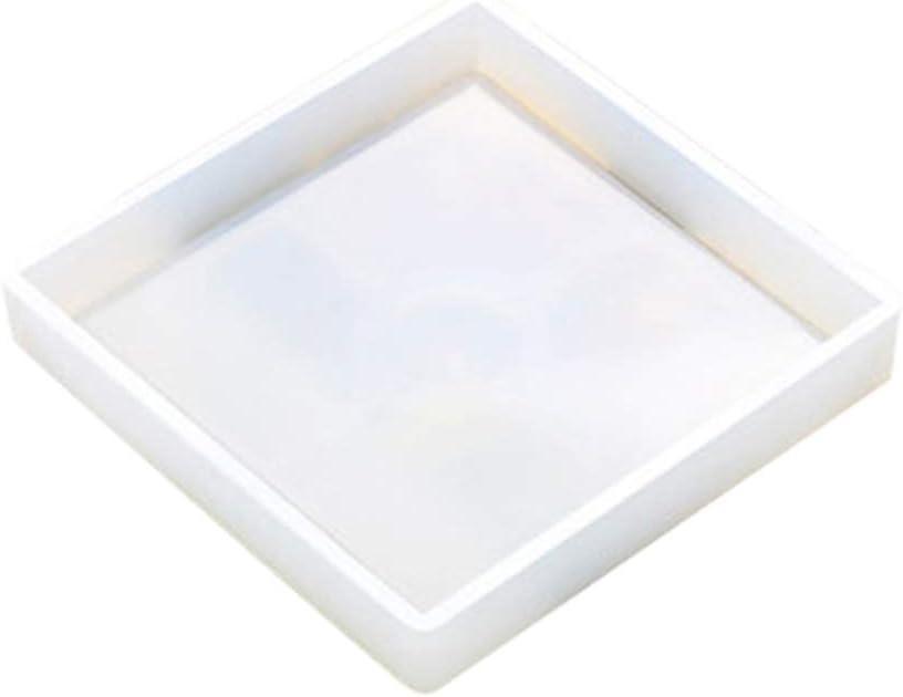 Base para Maceta Bandeja para Velas cenicero Posavasos de Silicona Antiadherente Transparente para Manualidades Molde de Silicona Yeshai3369