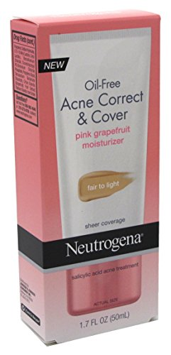 Neutrogena Acne Correct/Cover Moisturizer Fair/Light 1.7 Ounce (50ml) (2 Pack)