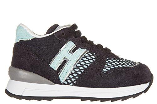 Hogan Rebel chaussures baskets sneakers garçon en daim neuves r261 allacciato zi