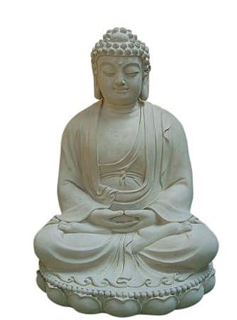 Steinfiguren Horn Buddha ca. 60 cm Groß, Frostfest: Amazon.de: Garten