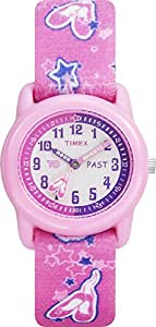 Timex Girls T7B151 Time Machines Pink Ballerina Elastic Fabric Strap Watch