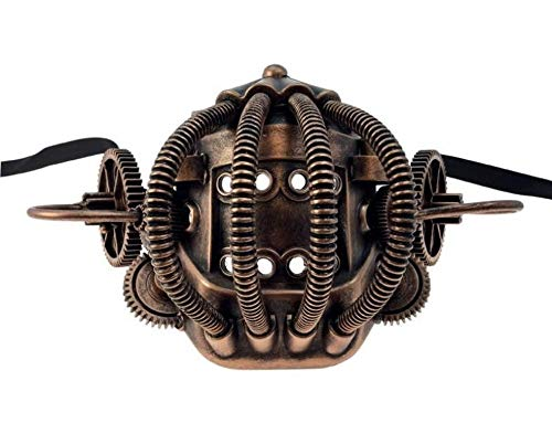 - Copper Industrial Steampunk Half Mask Mouthpiece Biker Adult Mouth Piece Mens