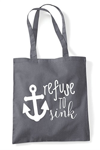 Shopper Dark Refuse To Anchor Bag Statement Tote Sink Strength Grey Zp0Zqw8