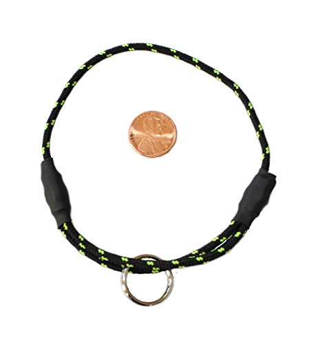 National Leash Thin Mountain Rope ID Collar for Small/Toy Dogs - Northern Lights Black - The Original Snickers Collar ()