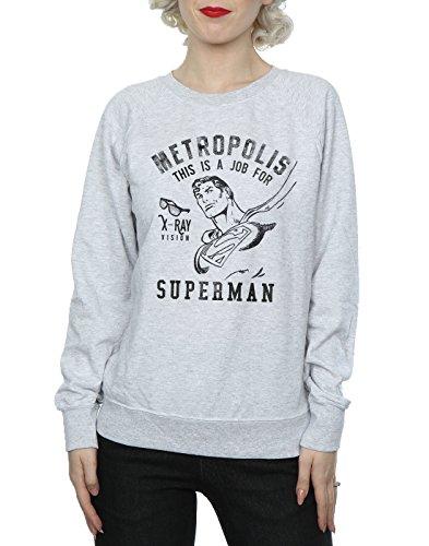 Superman Mujer X De Camisa Gris Comics ray Dc Cuero Entrenamiento p6PBxqwa