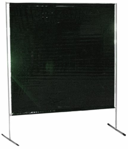 Sellstrom S97240-3 Cepro Vinyl Gazelle Welding Curtain and Lightweight Frame Kit, 6' Width x 6' Height x 14 mil Thick, (Transparent Green) by Sellstrom