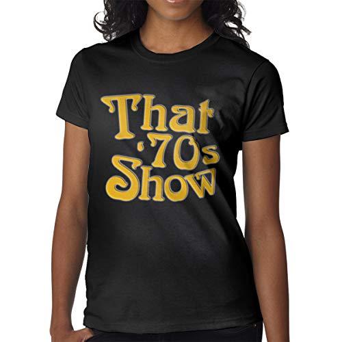 RZJMRU Womens That 70s'show Logo Short Sleeve T Shirts Black XL