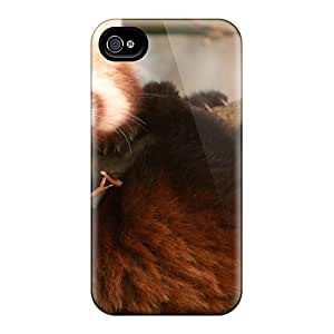 Top Quality Protection Cute Red Pa Cub Case Cover For Iphone 4/4s