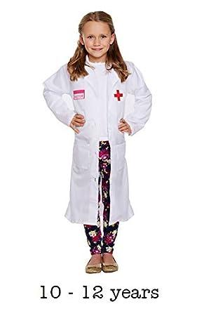 Niño Doctor Chica Disfraz Talla Grande Edad 10-12 años: Amazon.es ...