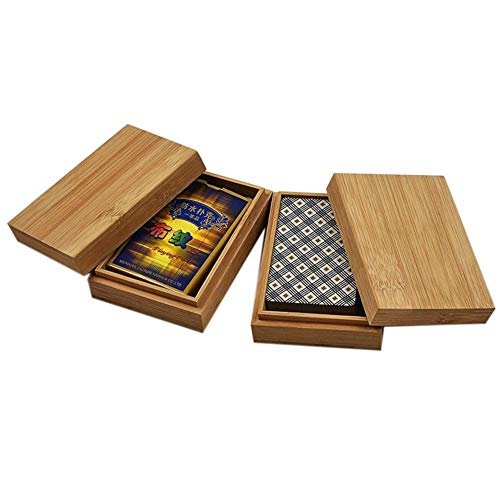(Yunhigh Wood Storage Case for Poker - Dice Case - Poker Playing Cards Holder)